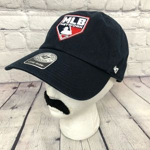 MLB Network Navy Blue Red & White Baseball hat